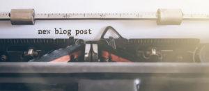 Words new blog post written on vintage manual typewriter