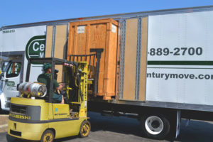 Century Movers loading using forklift